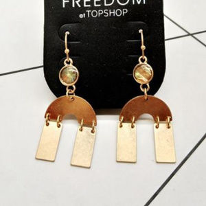 Topshop Gold Linked Shapes Earrings